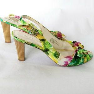 Etienne Aigner shoes floral size 8M